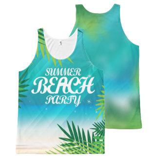 Summer Beach Party All-Over Print Singlet