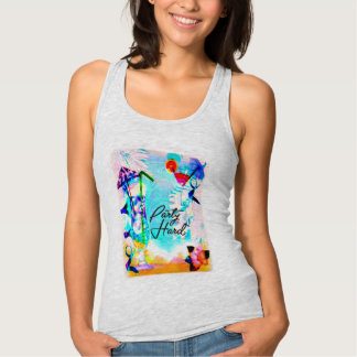 summer beach party colorful  tank-top design singlet