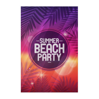 Summer Beach Party Night Acrylic Print