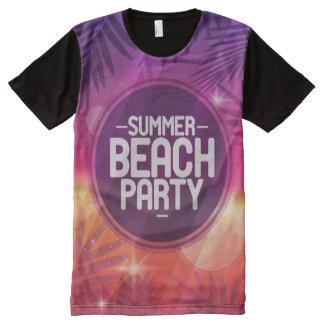 Summer Beach Party Night All-Over Print T-Shirt