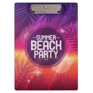 Summer Beach Party Night Clipboard