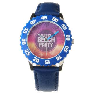 Summer Beach Party Night Wristwatch