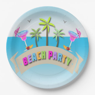 Summer Beach Party Paper Plates