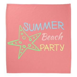 Summer Beach Party Pretty Pastels Bandana