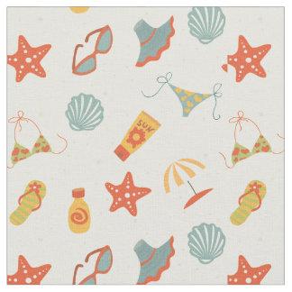 Summer Beach Pattern Fabric