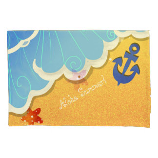 Summer Beach pillow case