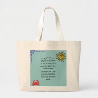Summer Beach Tote Wordsworth Poetry Sense Sublime Bags