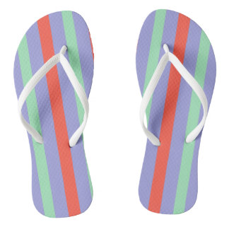 Summer beach towel stripes thongs