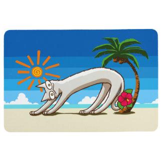 Summer Beach Tropical Cat Floor Mat