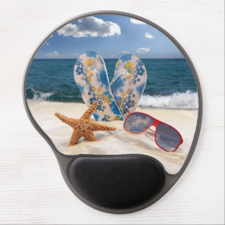 Summer Beach Vacation Gel Mouse Pad