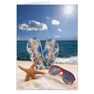 Summer Beach Vacation Note Card