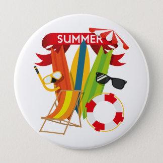 Summer Beach Watersports 10 Cm Round Badge