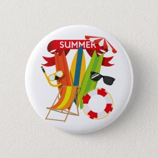 Summer Beach Watersports 6 Cm Round Badge