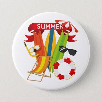 Summer Beach Watersports 7.5 Cm Round Badge