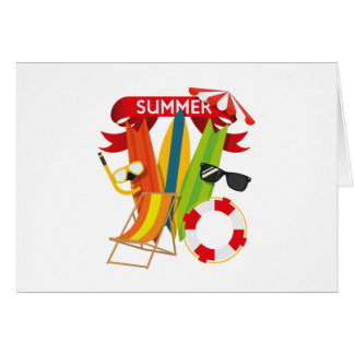 Summer Beach Watersports Card