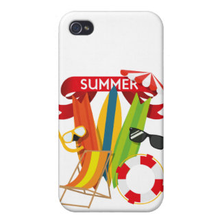 Summer Beach Watersports Case For iPhone 4