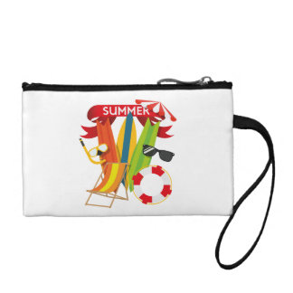 Summer Beach Watersports Coin Purse