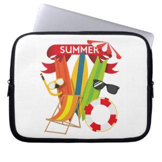 Summer Beach Watersports Computer Sleeve