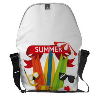 Summer Beach Watersports Courier Bag