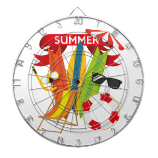 Summer Beach Watersports Dartboard