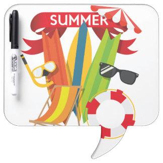 Summer Beach Watersports Dry Erase Board