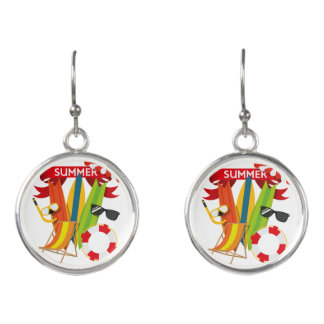 Summer Beach Watersports Earrings