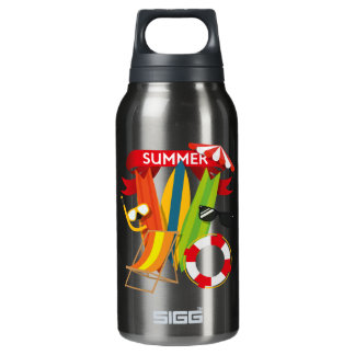 Summer Beach Watersports Insulated Water Bottle