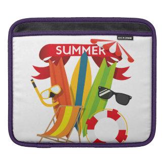 Summer Beach Watersports iPad Sleeve