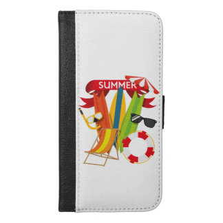 Summer Beach Watersports iPhone 6/6s Plus Wallet Case
