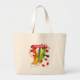 Summer Beach Watersports Large Tote Bag