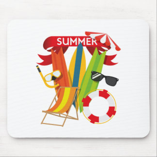 Summer Beach Watersports Mouse Pad
