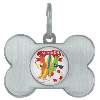 Summer Beach Watersports Pet ID Tag