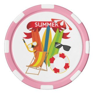 Summer Beach Watersports Poker Chips