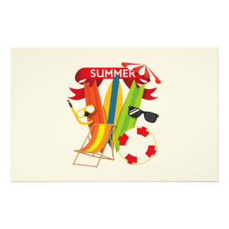 Summer Beach Watersports Stationery