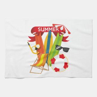 Summer Beach Watersports Tea Towel