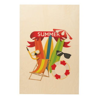 Summer Beach Watersports Wood Print