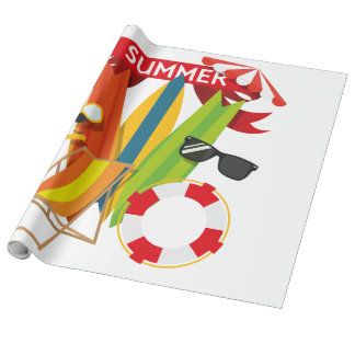 Summer Beach Watersports Wrapping Paper
