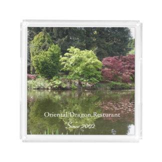 Summer beautiful botanical garden landscape.