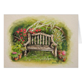 Summer Bench Greeting Card