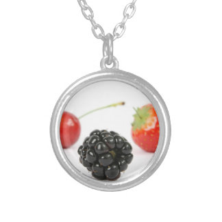 Summer Berries Silver Plated Necklace