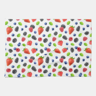 Summer berries tea towel