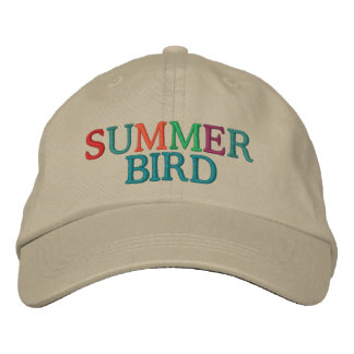 Summer Bird Embroidered Hat