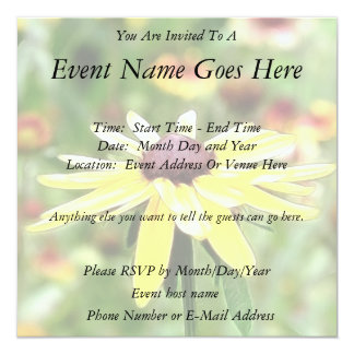Summer Black Eyed Susan Personalized Announcement
