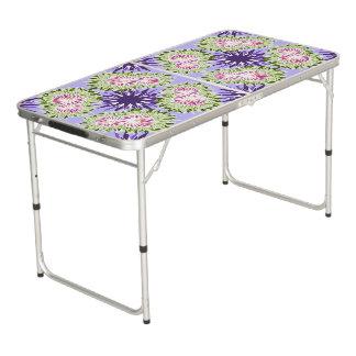 Summer blossom beer pong table