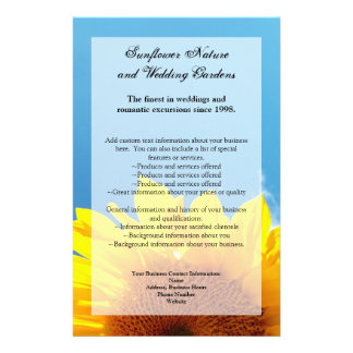 Summer Blue Sky with Yellow Sunflower 14 Cm X 21.5 Cm Flyer