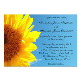 Summer Blue Sky with Yellow Sunflower Card