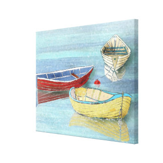 Summer Boats at Rest Canvas Print