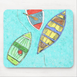 Summer Boats at Rest Mouse Pad