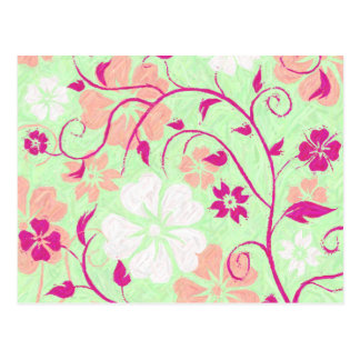 Summer Breeze Floral Collection Postcard