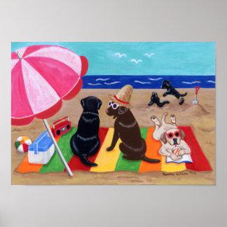 Summer Breeze Labradors Artwork Poster